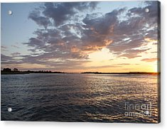 Freeport Cloudy Summertime Sunset Acrylic Print by John Telfer