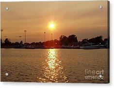 Acrylic Print featuring the photograph Freeport Summer Sunset by John Telfer