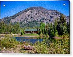 Freestone Inn Lakeside View Acrylic Print by Omaste Witkowski