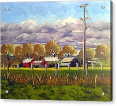 Freeway Farm Acrylic Print by Char Wood