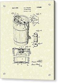 Freezer 1929 Patent Art Acrylic Print