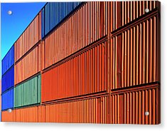 Freight Containers Acrylic Print