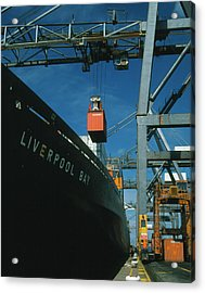 Freight Containers And Straddle Carriers Acrylic Print