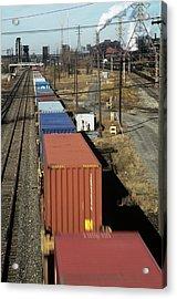 Freight Train Acrylic Print