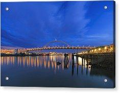 Fremont Bridge Blues Acrylic Print by David Gn
