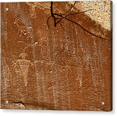 Fremont Culture Rock Art In Utah Acrylic Print