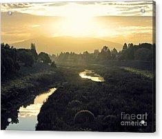 Acrylic Print featuring the photograph Fremont Dawn by Ellen Cotton
