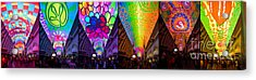 Fremont Street Experience Acrylic Print by Amy Cicconi
