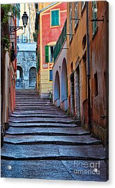 French Alley Acrylic Print by Inge Johnsson