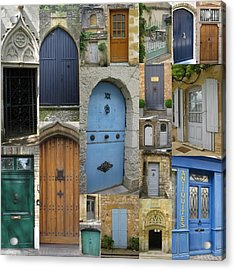French And Belgian Doors Acrylic Print by Cathy Jacobs