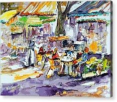 French Bistro Street Scene Acrylic Print