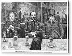 French CafÉ, 19th Century Acrylic Print by Granger