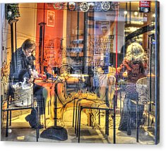 French Cafe Life Acrylic Print