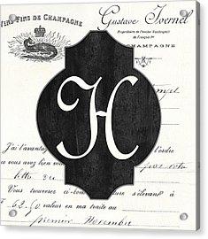 French Champagne Monogram Acrylic Print