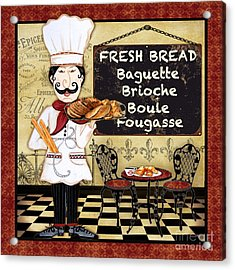 French Chef-a Acrylic Print
