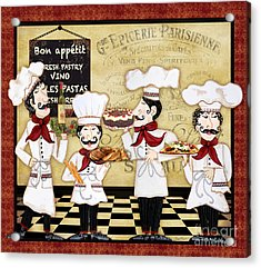 French Chefs-bon Appetit Acrylic Print by Jean Plout