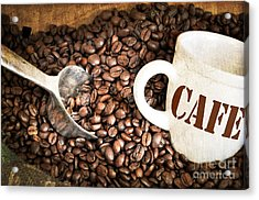 French Coffee Acrylic Print by Delphimages Photo Creations