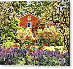 French Countryside House Acrylic Print by David Lloyd Glover