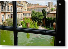 French Courtyard Acrylic Print