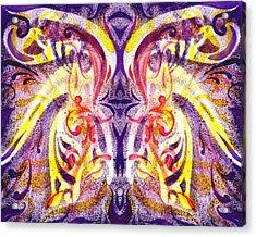 French Curve Abstract Movement V Magic Butterfly  Acrylic Print by Irina Sztukowski