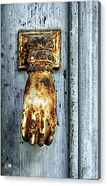 French Door Knocker Acrylic Print by Georgia Fowler