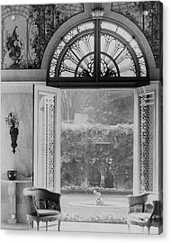 French Doors Leading To A Garden Acrylic Print by Matsy Wynn Richards