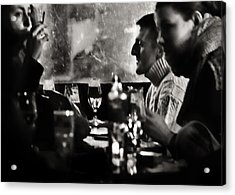 French Drinks Acrylic Print by Michel Verhoef