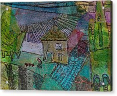 Acrylic Print featuring the mixed media French Farm by Catherine Redmayne