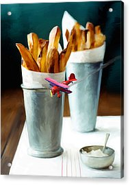French Fries Fly-by Acrylic Print