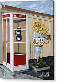 French Fry Guy Acrylic Print by Jennifer  Donald
