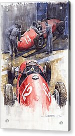 French Gp 1952 Ferrari 500 F2 Acrylic Print by Yuriy  Shevchuk