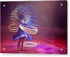French Hula Hooping Acrylic Print