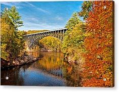 French King Bridge In Autumn Acrylic Print