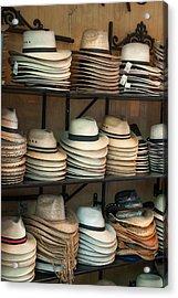 French Market Hats Acrylic Print by Brenda Bryant