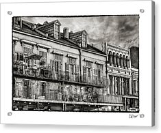 French Market View In Black And White Acrylic Print by Brenda Bryant