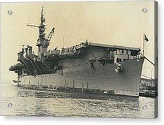 French Mediterranean Fleet Left Malta Acrylic Print by Retro Images Archive