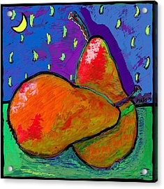 French Pears At Midnight Acrylic Print