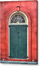 French Quarter Arched Door Acrylic Print by Brenda Bryant