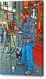 French Quarter Artist Painted Acrylic Print by Steve Harrington