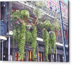 French Quarter Balcony 379 Acrylic Print by John Boles