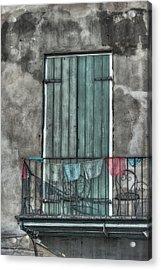 French Quarter Balcony Acrylic Print by Brenda Bryant