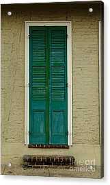French Quarter Door - 15 Acrylic Print by Susie Hoffpauir