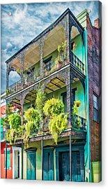 French Quarter Ferns Acrylic Print
