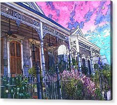 French Quarter Houses 377 Acrylic Print by John Boles