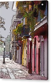 French Quarter New Orleans Acrylic Print by Linda  Parker