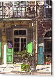 French Quarter Shop 369 Acrylic Print by John Boles