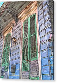French Quarter Shutters 368 Acrylic Print by John Boles