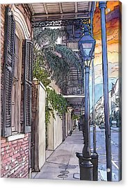 French Quarter Sidewalk 443 Acrylic Print by John Boles