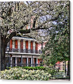 French Quarter Spring Acrylic Print by Olivier Le Queinec