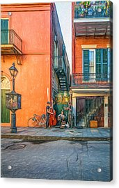 French Quarter Trio - Paint Acrylic Print by Steve Harrington
